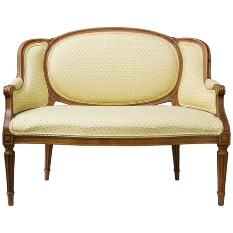upholstered settees diminutive louis xvi style upholstered settee for sale at