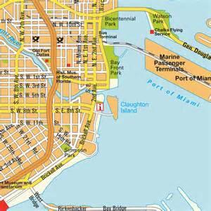 map miami fl and miami florida usa city center