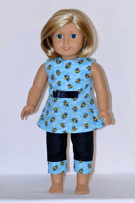 American Handmade Doll Clothes - american doll clothes handmade blue butterfly