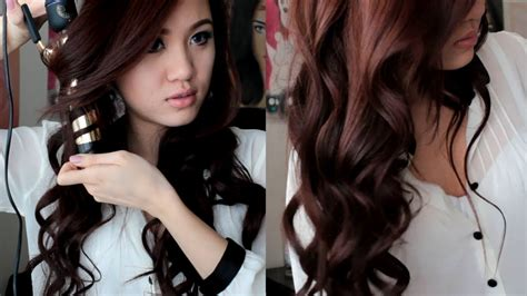 pretty hair styles with wand soft romantic curls hair tutorial youtube
