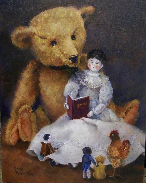 china doll book china doll read a book painting by michele thorp