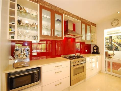 line kitchen design modern single line kitchen design using stainless steel