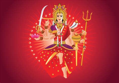 vector illustration  goddess durga  subho bijoya