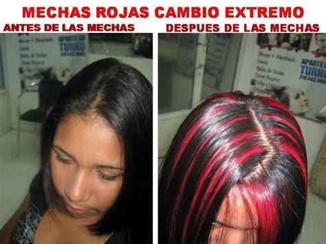 imagenes de iluminaciones rojas mechas rojas creadas por el destacado estilista roberto