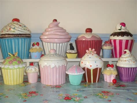 cupcake canisters for kitchen 26 best cupcakes galore images on cupcake heaven vintage cupcake and cookie jars
