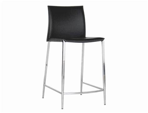 counter height leather bar stools new york black leather counter height 24 bar stool