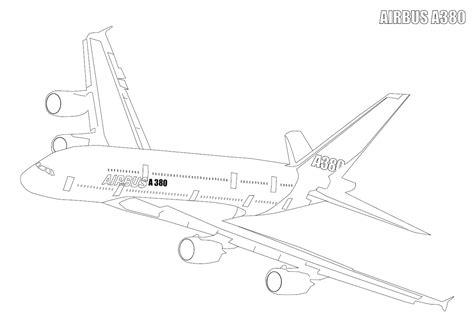 dessin bateau du futur a380 airbus coloriage de l avion a380 airbus 224 imprimer