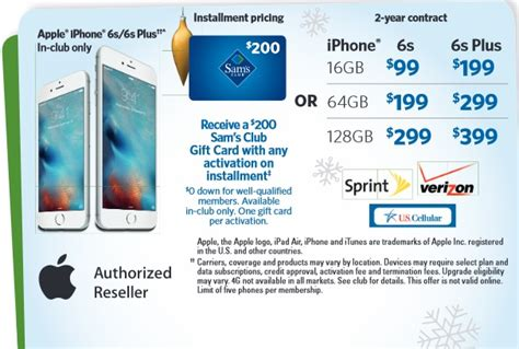 Sam S Club Iphone Gift Card Deal - sam s club s lowest prices of the season features deals for iphone 6s ipad air 2