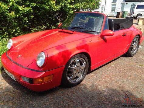 red porsche convertible lhd 1994 porsche 964 c2 cabriolet cabrio convertible