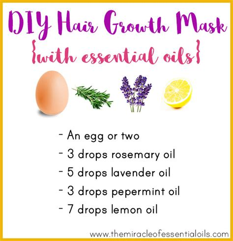 essential oils for hair growth and thickness diy essential oil hair growth mask for longer thicker