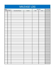 mileage tracker template sle mileage tracker 7 exles in pdf excel