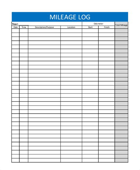 Mileage Log Excel Sle Mileage Tracker 7 Exles In Pdf Excel