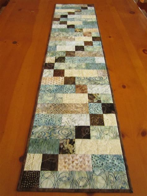 Patchwork Bed Runner Patterns - batik table runner quilted table runner by