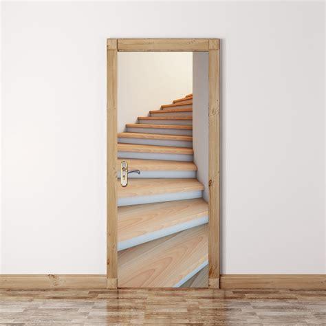stairway door 200x77cm 3d stairway door wall fridge sticker pvc self