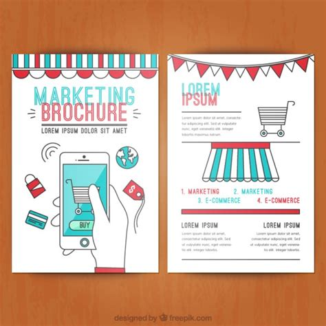 marketing brochure marketing brochure vector free