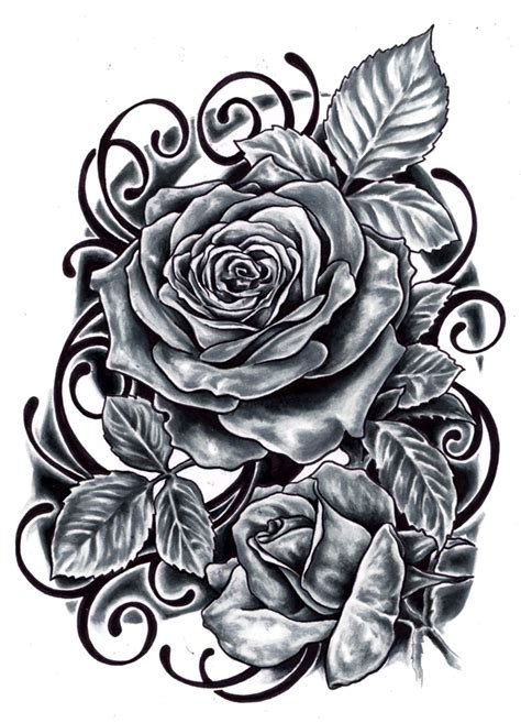 gothic black rose tattoo designs images designs
