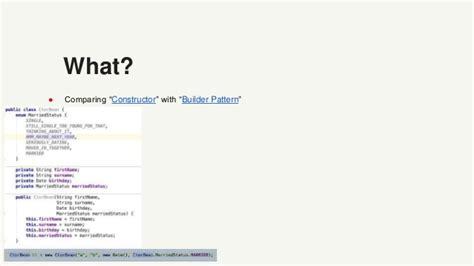 java 8 builder pattern immutable builder pattern vs constructor