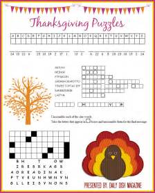 thanksgiving puzzles printables daily dish magazine recipes travel crafts
