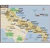 Map Of Puglia &amp Basilicata