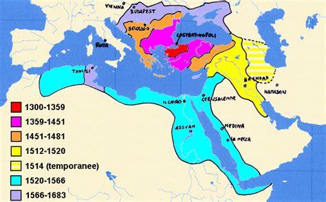 impero ottomano cartina da kosovo polje a vienna