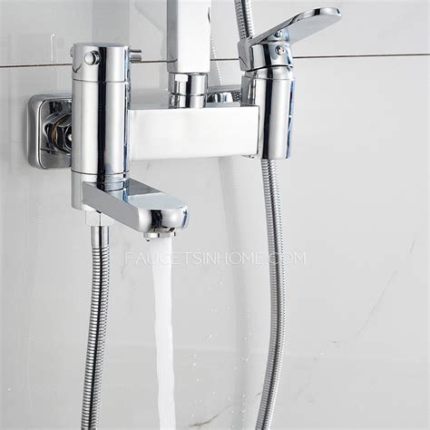 High End Shower Faucets by High End Waterfall Pressurized Outside Shower Faucet