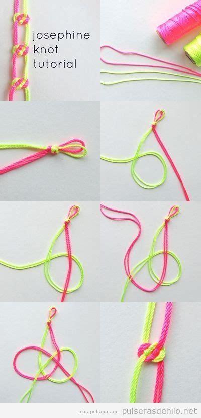 pulsera de nudos paso a paso tutorial paso a paso pulsera diy con cuerdas y nudos