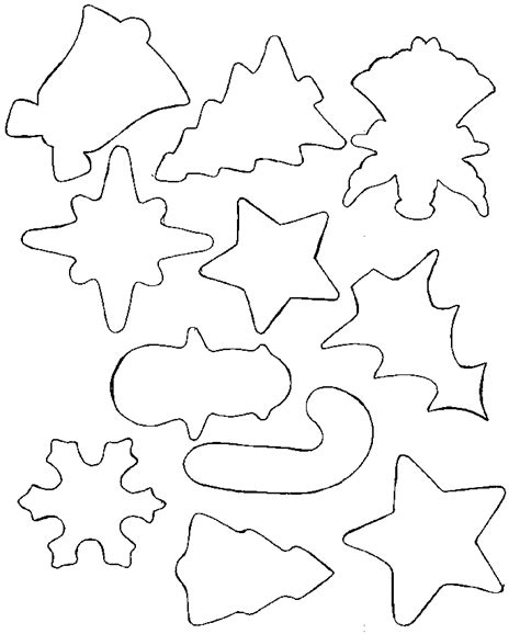 printable holiday shapes cut out shapes for kids az coloring pages