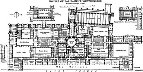 Houses Of Parliament Floor Plan | houses of parliament westminster plan of principal floor