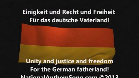 national anthem germany german national anthem with lyrics youtube