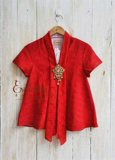Set Ploy Maroon By Butik Citra top kebaya heritage damenmode