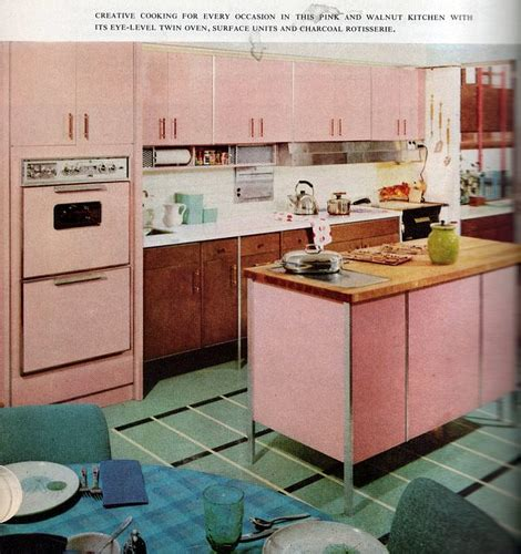 1960 s kitchen icafe woman moderne i dream of jeannie in a pink retro