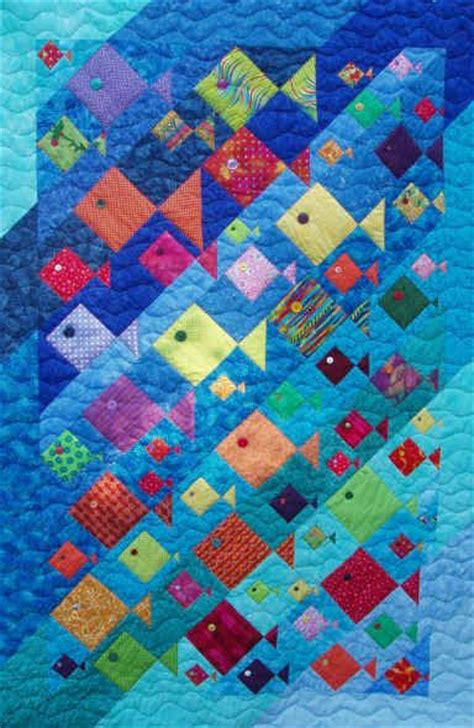 Patchwork Fish Pattern - 394 best quilts sea theme images on