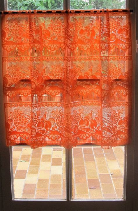 Orange Kitchen Curtains Designs 32 Best Images About Orange Kitchens On Cabinet Design Black And White Tiles And