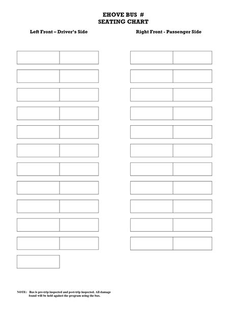 seating chart template word printable school seating chart templates pictures to
