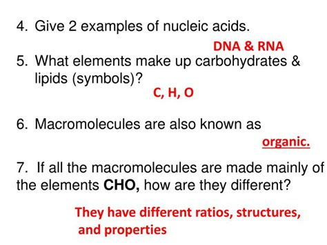 carbohydrates non exles what elements make up carbohydrates lipids proteins and