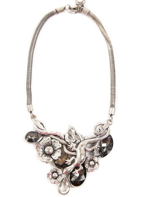 silver lizard necklace fashion necklace pretty silver
