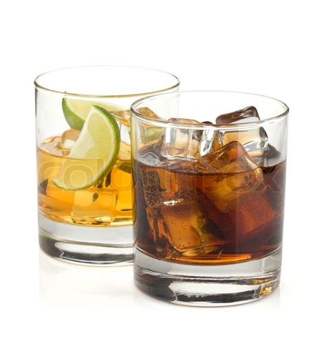 whiskey cocktail photography whiskey and cola cocktails stock photo colourbox