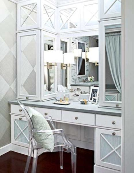 Built In Makeup Vanity Ideas by Pattern Walls Bathroom