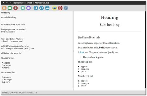github markdown tutorial remarkable screenshots linux
