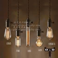 Vintage Light Bulb Pendant Edison L Bulb Retro Retro Industrial Revolution Bar Clothing Shop Pendant L Personality