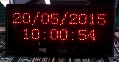 cara membuat jam digital led cara merakit jam digital dan running text menggunakan p10
