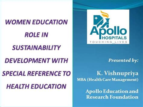 Mba Sustainable Development by Health Educationand Its In Sustainability