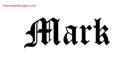 tattoo name mark mark archives free name designs