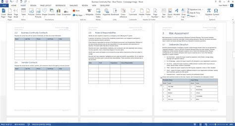 business continuity plan 48 pg ms word 12 excel template
