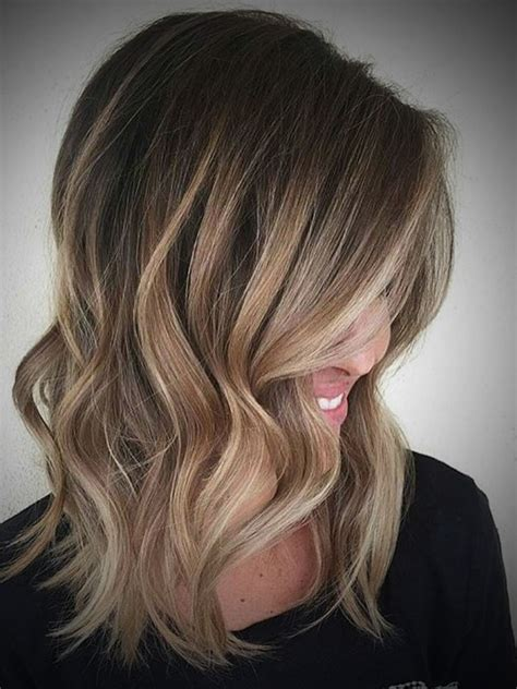 medium ash brown ombre hair color elle hairstyles medium length dark brown to blonde ombre hair elle