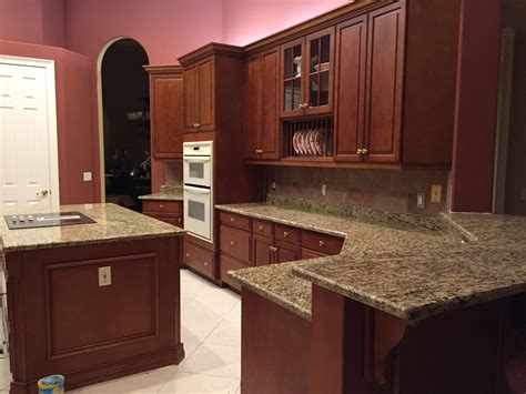 Kitchen Cabinets With Granite Countertops Santa Cecilia Granite Countertops Roselawnlutheran