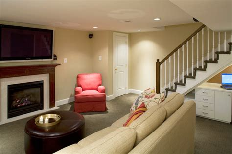 making the basement livable row house renovation ideas row home remodel traditional basement baltimore by