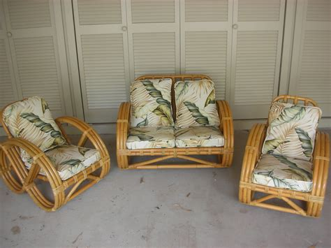 Antique Rattan Furniture by A 3 Set Of Vintage Rattan Childrens Furniture