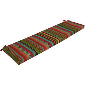 Mainstays Outdoor Cushions Mainstays Outdoor Bench Cushion Bright Stripe Walmart