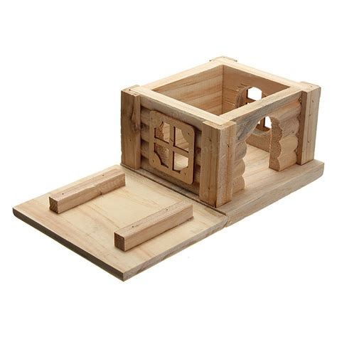 hamster bedroom toy wooden hamster house bedroom dwarf cage rat mouse gerbil exercise natural at